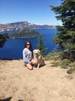 Lesli and Chrystal at Crater Lake