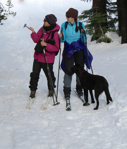 Fleur and Emma XCSkiiing
