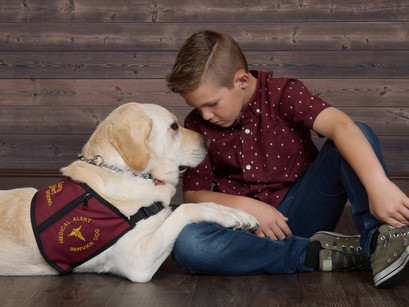 His diabetic alert dog never lets him out of his sight, Chase & Brandt