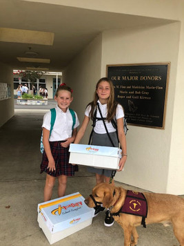 Dewey and his girls back to school