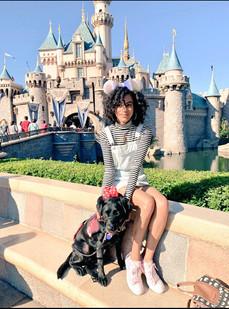 Waimea and Monique at Disneyland