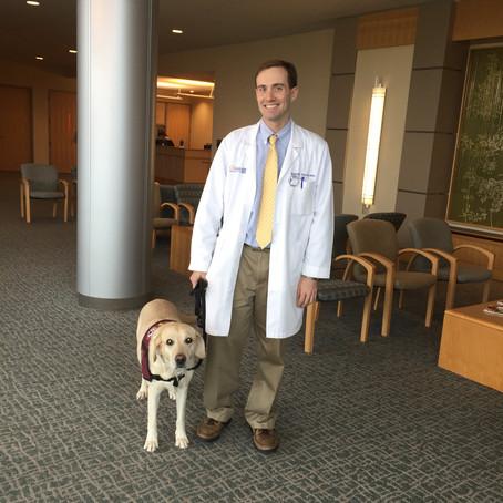 Matt's EAC dog tirelessly works to support him, Matt & Nona