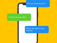 Who's the Green Chat Bubble?