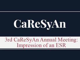 3rd CaReSyAn Annual Meeting: Impression of an ESR