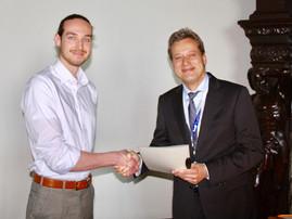 Robert Mertens receives the Gotthard-Schettler-Prize from the DGAF