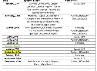 Cardiorenal Seminar 2020 Schedule