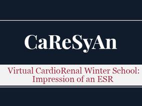 Virtual CardioRenal Winter School: Impression of an ESR