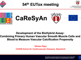 CaReSyAn presented on the EUTox Research Meeting