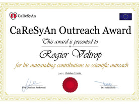 """ESR Outreach Award"" awarded to Rogier Veltrop"