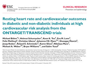 Resting heart rate and cardiovascular outcomesin diabetic and non-diabetic individuals.