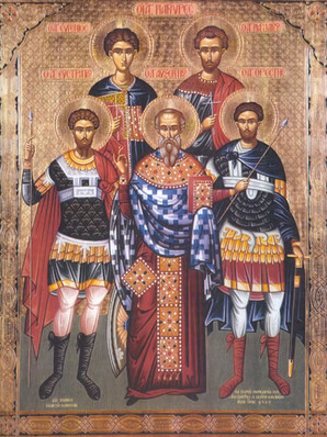 Άγιοι Ευστράτιος, Αυξέντιος, Ευγένιος, Μαρδάριος και Ορέστης