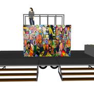 Mobilus-20' Paint-Trailer -Deck Over Whe