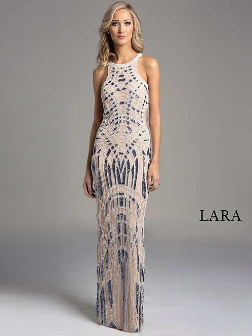 LARA 33254 - Sweep halter neck dress