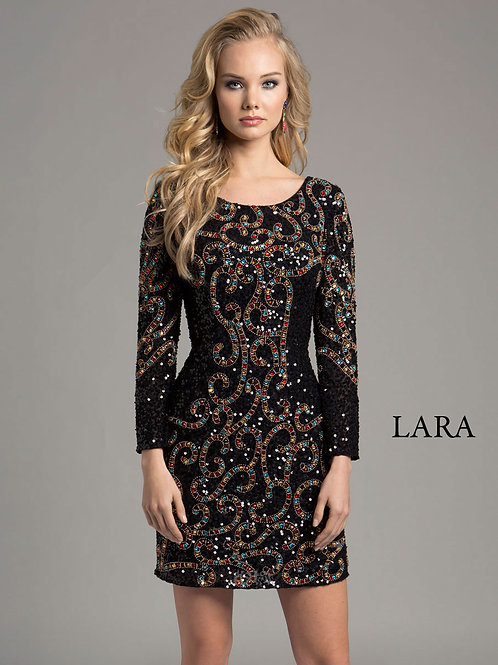 LARA 33007 - Multi Beaded Cocktail Dress