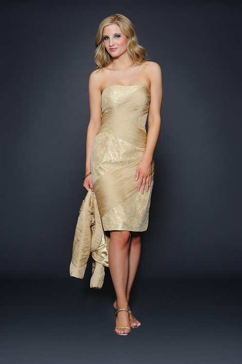 Lara 21620 - Strapless Cocktail With Jacket