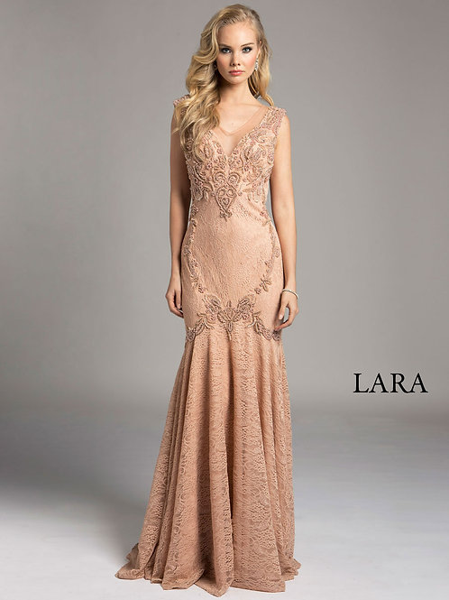 LARA 33229 - Delicate floral flared dress