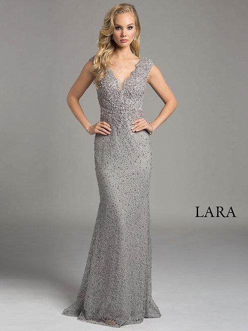 LARA 33232 - v neck dress