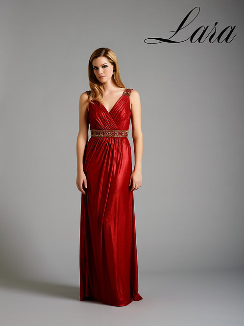 Lara 32302 - Red Stretch Jersey Gown