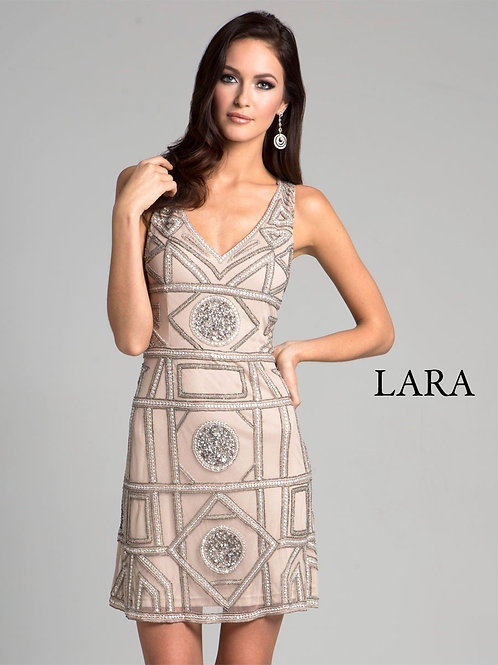 LARA 33405 - Geometric sleeveless cocktail dress