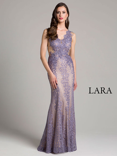 LARA 33231 - Detailed back dress