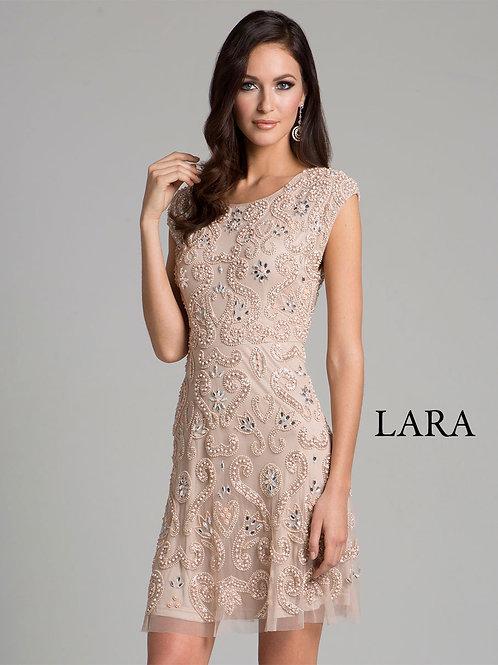 LARA 33404 - Beaded detailed back dress