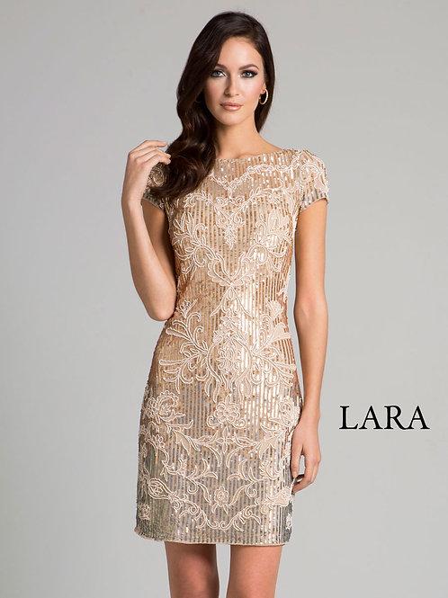 LARA 33034 - boat neck cocktail dress