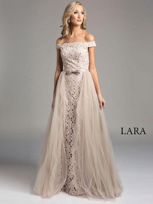 LARA 33213 - Off shoulder Belt detail gown