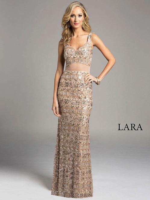 LARA 33026 - Strap dress with back detail