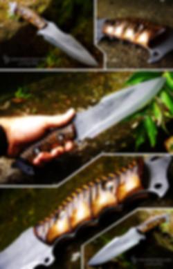 clégan couteau bivouac bushcraft plate semelle