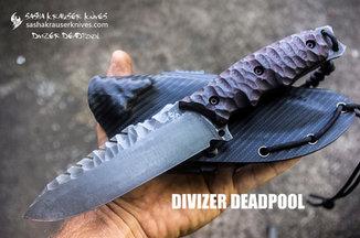 Divizer Deadpool couteau combat drop point