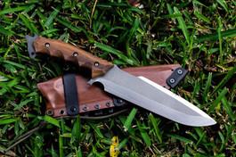 leather iimitation kydex sheath on venom dagger