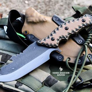 estrela V2 handmade knife desert style