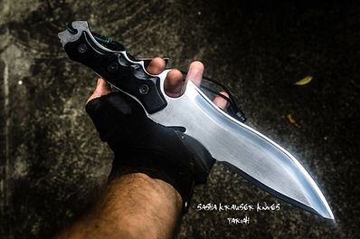 pariah big fighter with recurve blade