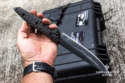 custom straight back blade