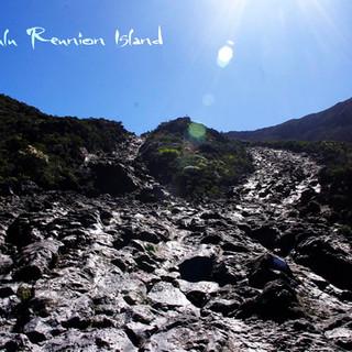 coulée de la lave Sud île Réunion