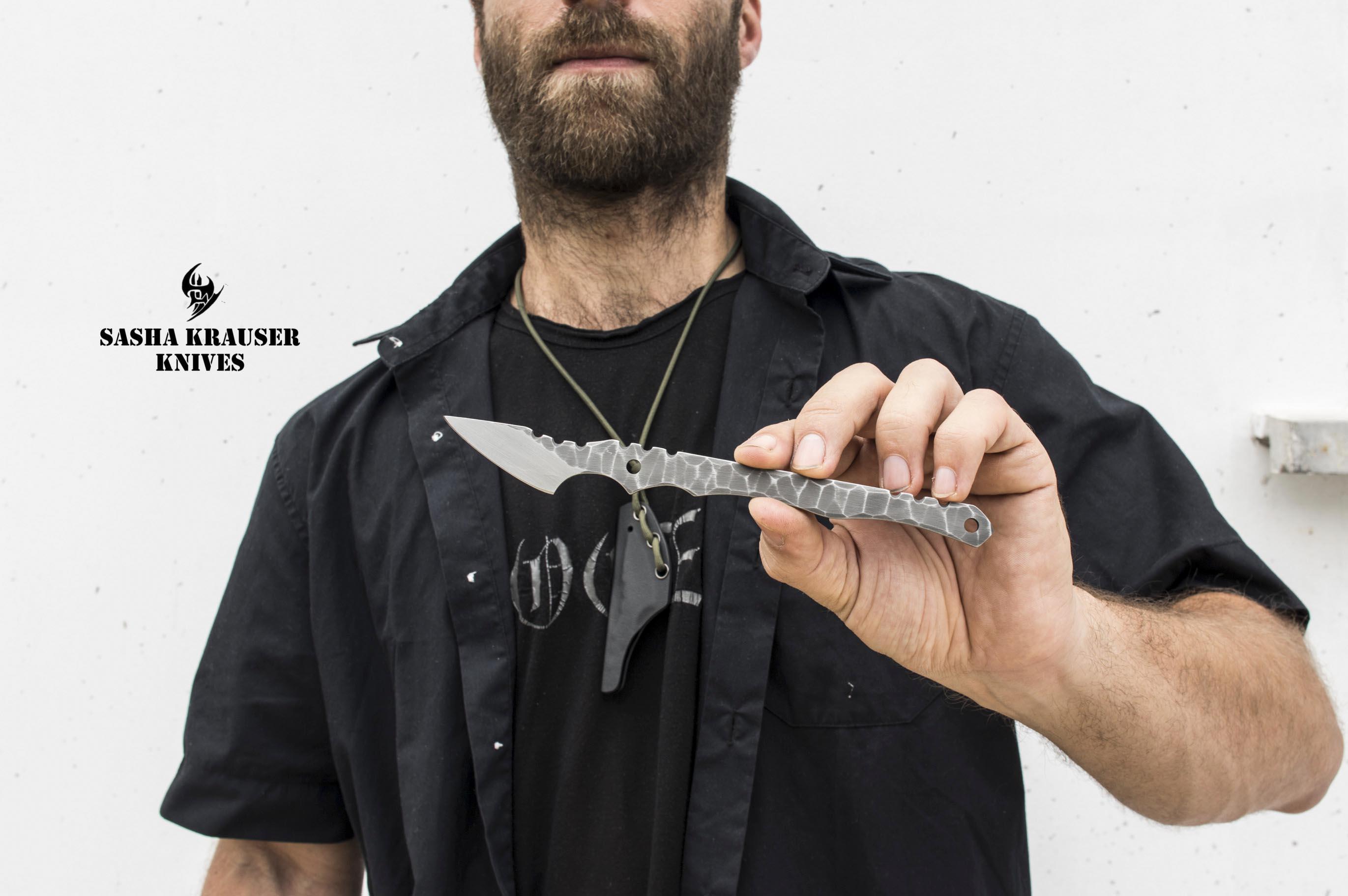 tranchet neck knife edc
