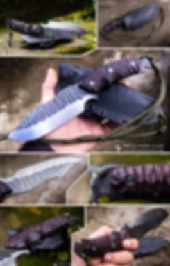 estrela reptilian couteau bushcraft lame fixe