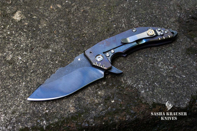 Couteau pliant katharsys k3 avec lame recurve