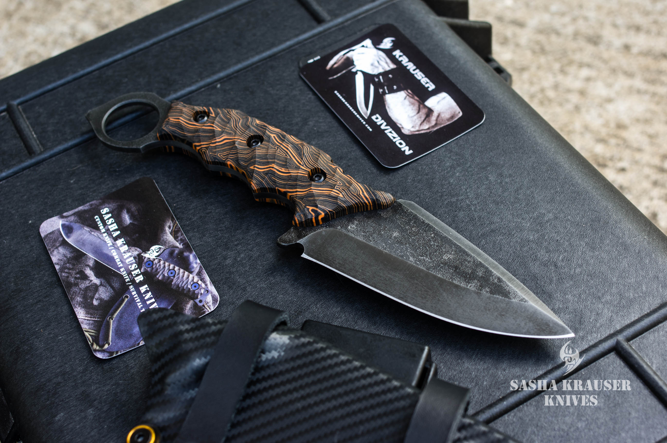 karambit warheart lame spear point manche composite