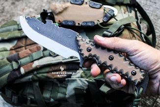 estrela v2 drop point bushcraft fulltang knife
