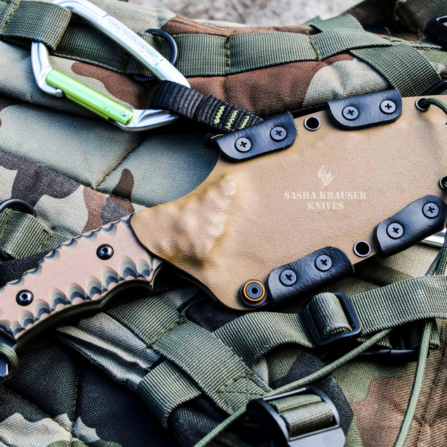 estrela V2 custom kydex sheath camo