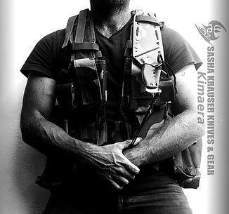 Kydex sheath vertical port on tactical vest