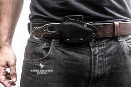kydex sheath for backup tactical knife on belt