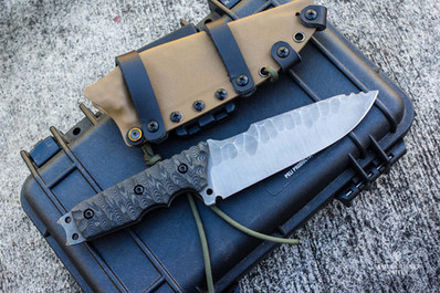 Survival knife with krauser point blade