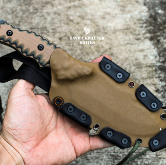 custom kydex and leather sheath