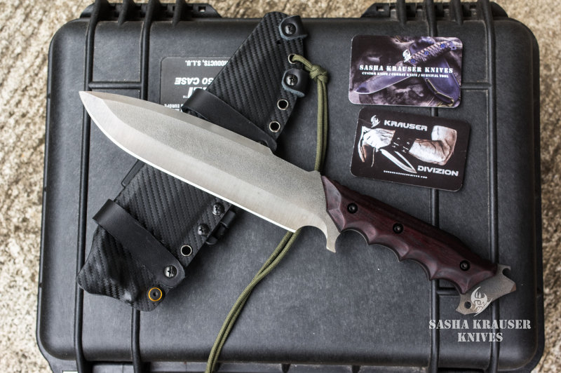 Venom survival drop point knife