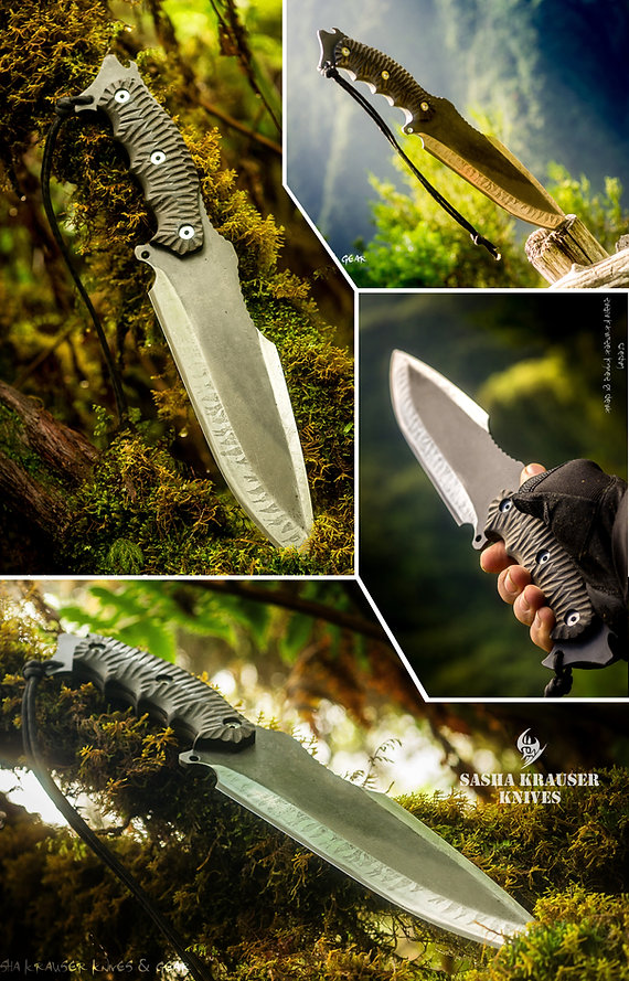 clégan fulltang drop point hunting knife