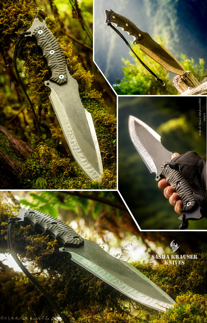 clégan fulltang drop point hunting knife
