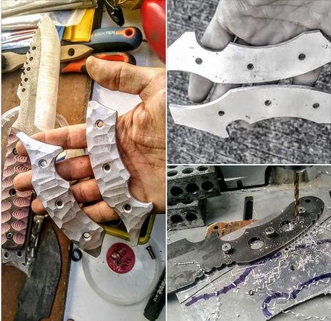 manche custom en aluminium aéronautique