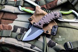 desert tan kydex sheath with franky4fingers knife